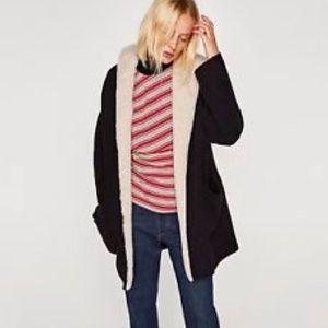 Zara hooded coat